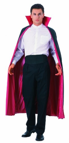 Rubie's Mens 60 Inch Reversible Cape, Red/Black, One Size Costume