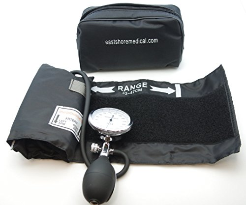 One Hand Manual Blood Pressure Cuff Large Adult size   Aneroid Sphygmomanometer , FDA -
