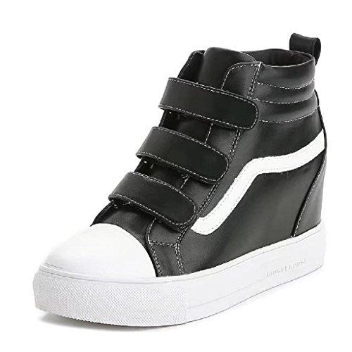 High-Top Sneaker Damenschuhe Keilabsatz/ Wedge Freizeitschuhe Schwarz