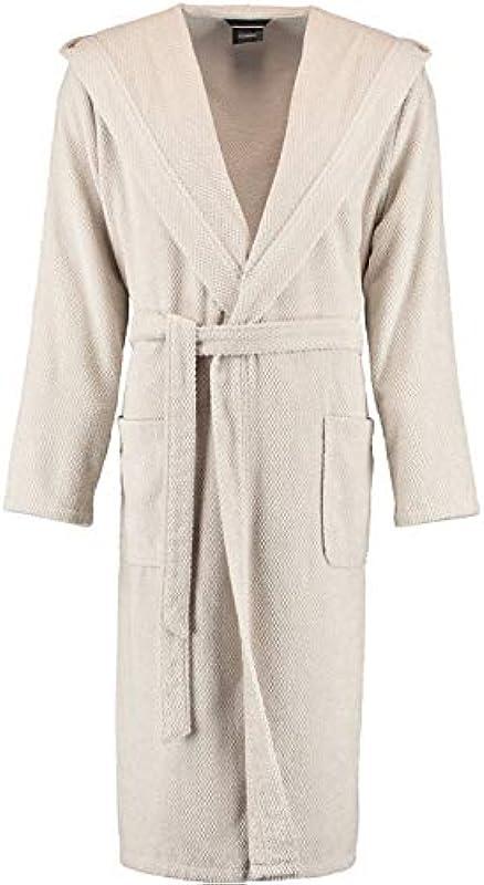 Cawö Home płaszcz kąpielowy męski z kapturem truktur 1836 travertin - 366, medium: Küche & Haushalt