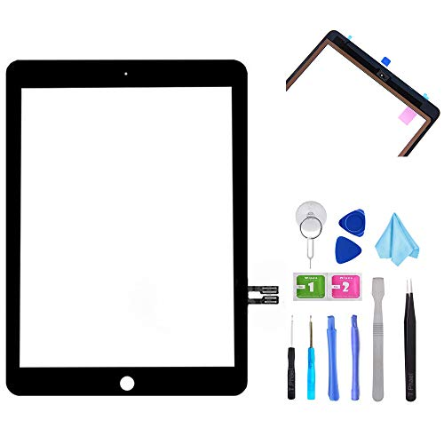 T Phael Black Digitizer Repair Kit for iPad 9.7