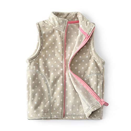 Fleece Baby Fleece Vest - Feidoog Baby Girl Soft Polar Fleece Lightweight Vest Zipper Up Waistcoat Outerwear,Khaki,1-2T