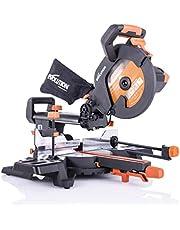Evolution Power Tools – R255SMS+ wielofunkcyjna piła kątowa z pakietem, 255 mm (230 V)