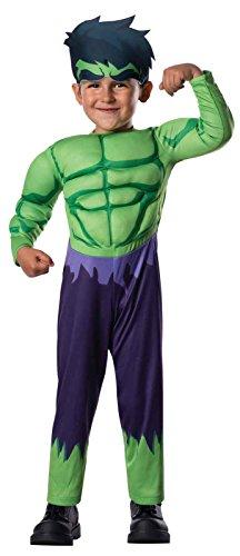 Masquerade Costumes Halloween Adventure (Rubie's Marvel Super Hero Adventure's Muscle Chest Costume, Hulk,)