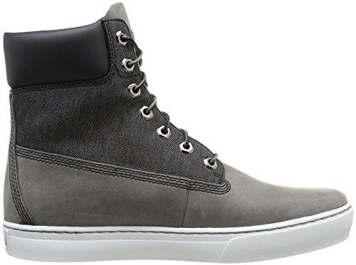 grises Boots 6 Cupsole cuir 0 Fabric bottes Grey Timberland et Leather Men's Grey Newmarket po 2 grises hommes tissu pour and Botte en de Boot BXPawx
