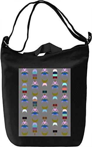 Pineapple And Ice Cream Borsa Giornaliera Canvas Canvas Day Bag| 100% Premium Cotton Canvas| DTG Printing|