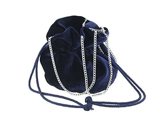 LONI - Bolso cruzados para mujer rosa Fuschia Raspberry Small azul marino