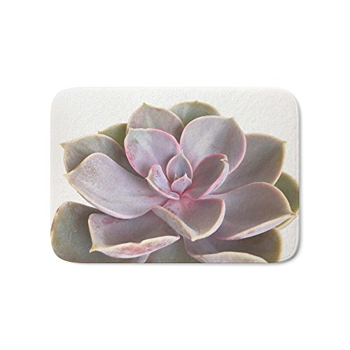 "Society6 Purple Succulent Bath Mat 17"" x 24"""