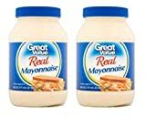 Great Value Real Mayonnaise, 30 fl oz (Pack of 2)