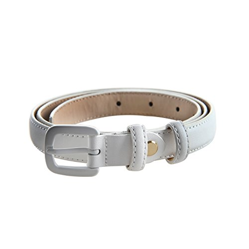 Bpstar Womens Skinny Leather Belt Solid Color with Pin Buckle Simple Waist Belts by Bpstar (Image #1)