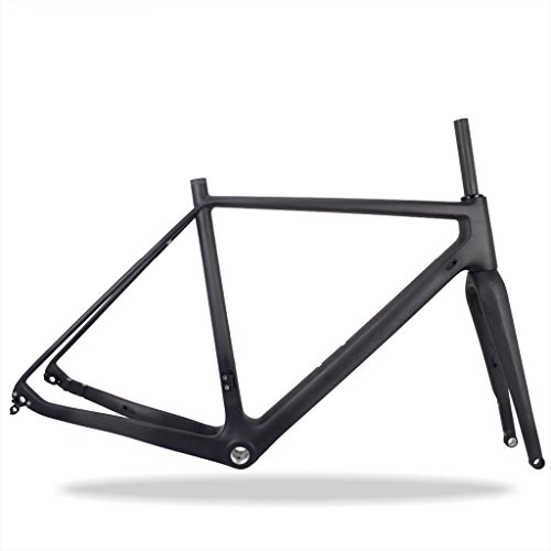 (FidgetGear 49/52/54/56/58cm Carbon Cyclocross Bike Frame&Fork UD Matt CX Bicycle Framesets)