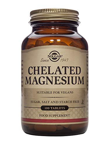 Solgar Chelated Magnesium Tablets, 100 Count