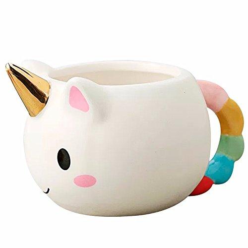 Taza Ceramica En Forma De Unicornio Con Cuerno 3d