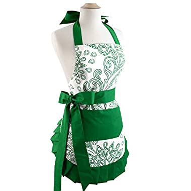 Flirty Aprons Women's Original Apron, Green Goddess