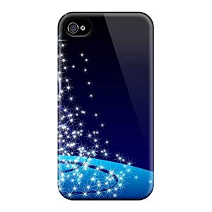 Hot New Blue Christmas Tree Case Cover For Iphone 4/4s With Perfect Design
