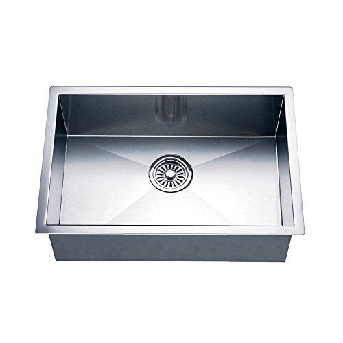 Daweier ESQ240900 Square Sink Single Bowl, 18 Gauge
