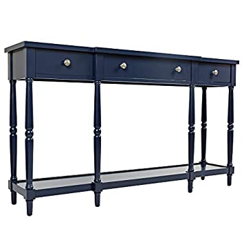 Jofran 1633-60, Stately Home, 60 Console, 60 W X 14 D X 34 H, Navy Finish, Set of 1