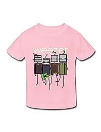 XFSHANG Kids Toddler Cute Short Sleeve Weezer T-Shirt