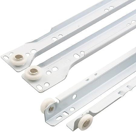 "Prime-Line R 7210 Drawer Slide Kit – Replace Drawer Track Hardware –  Self-Closing Design –Fits Most Bottom/ Side-Mounted Drawer Systems –15-3/4""  Steel ..."