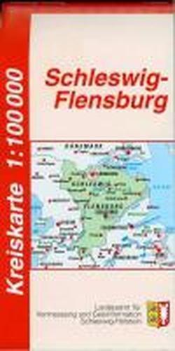Schleswig-Flensburg Kreiskarte 1 : 100 000: Der Karteninhalt erstreckt sich von der Darstellung der Siedlungen, Bodenbewachsung, Gewässerformen, des ... Darstellung von Amts- und Gemeindegrenzen.