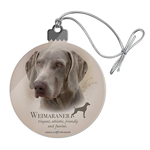 GRAPHICS & MORE Weimaraner Dog Breed Acrylic Christmas Tree Holiday Ornament
