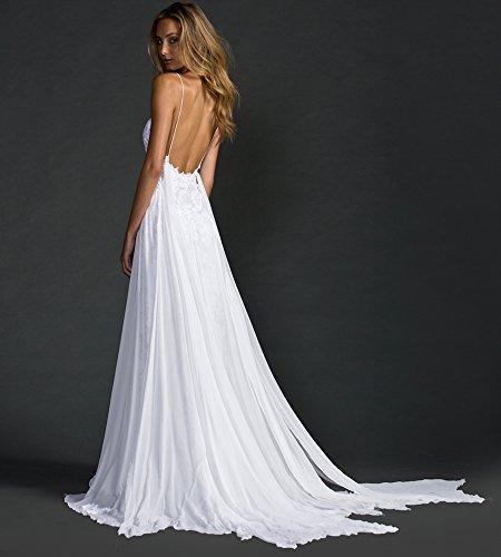 Mingxuerong Hochzeitskleid Boho Chiffon Spitze Lang Sexy Brautkleid ...