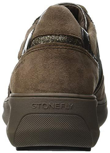 Marrón Velour Oxford Zapatos M29 1 Stonefly teak Cordones Rock Mujer De Para Brown qwEBz1