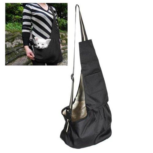 Black Pet Dog Puppy Strap Sling Shoulder Bag Carrier (M), [Importado de Reino Unido] Pixnor