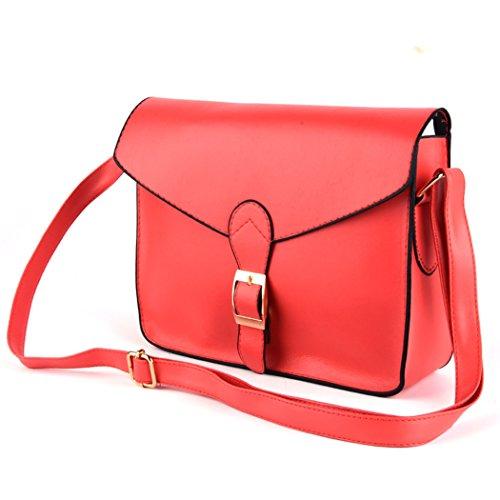 Tote Bag - All4you señora diseñador bolso bandoleras Messager monedero bolso en Style(Yellow) muy buen gusto Rojo