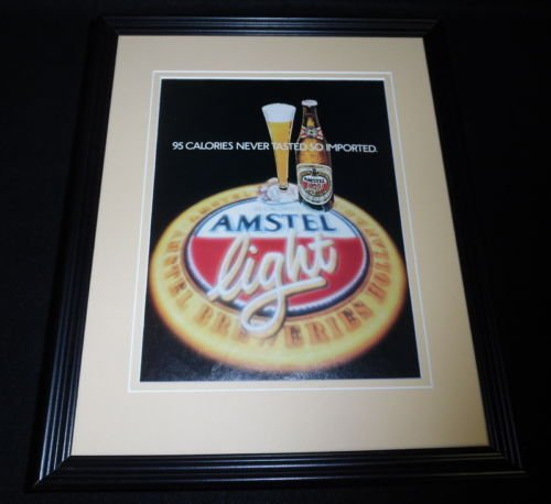 1984-amstel-light-framed-11x14-original-vintage-advertisement-c