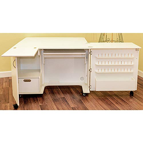 Kangaroo Fully Assembled Wallaby II Sewing Cabinet in White Ash -  Kangaroo Kabinets
