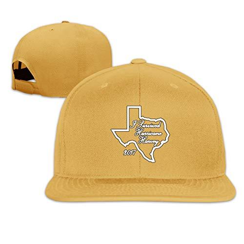ONE-HEART HR Baseball Cap I Survived Hurricane Harvey 1 Adjustable Custom Flat Peaked Hat Unisex