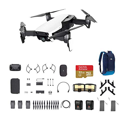 DJI Mavic Air Fly More Combo, Arctic White Portable Quadcopter Drone with 32G SD Card and More … Review