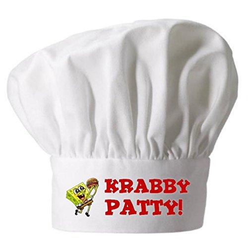 Kids Chef Hat Spongebob Krabby Patty | Childs Toque -