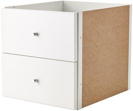 Ikea Kallax - Inserte con 2 cajones, Blanco - 33x33 cm
