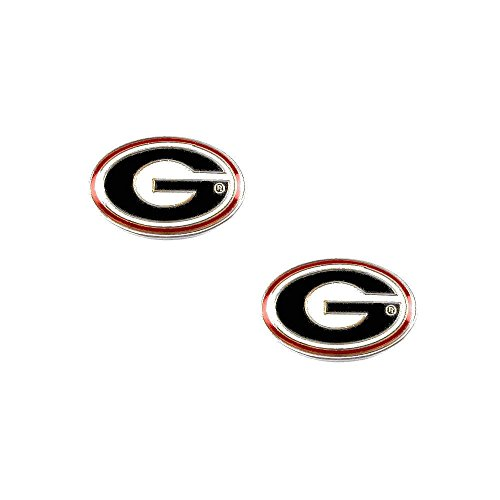 aminco Georgia Bulldogs Post Stud Logo Earring Set Ncaa Charm (Bulldogs Team Post Earrings)
