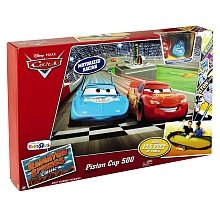 Disney Pixar's Cars - Piston Cup 500 Track Set with 2 Cars