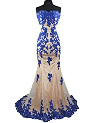 Meier Womens Strapless Lace Bead Formal Evening Gown