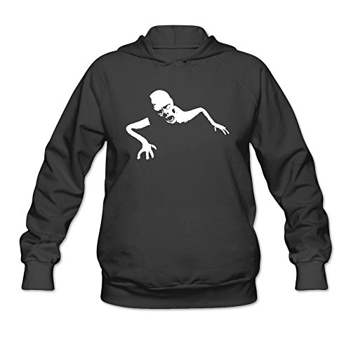Women Terrible Crawling Zombie Hoodies Black 100% Cotton ()