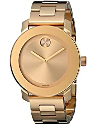 Movado Womens 3600085 Bold Gold-Tone Watch