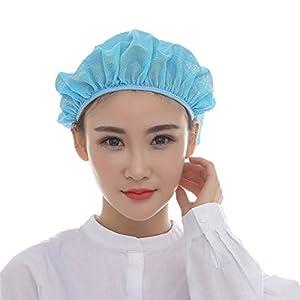 Nanxson TM 5X Unisex Mob Caps Mesh Industrial Workshop Protective Working Elastic Kitchen Hats Hair Net CF9023 (Blue)