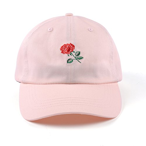 c0892c17 AUNG CROWN Rose Embroidered Dad Hat Women Men Cute Adjustable Cotton Floral  Baseball Cap - Buy Online in Oman. | Apparel Products in Oman - See Prices,  ...