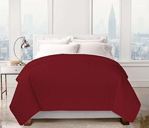Regal Home Collections Solid Colored Diamond Embossed Quilt