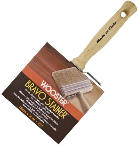 Wooster Brush F5116-4 3/4 Bravo Stainer Stain Brush, 4.75-Inch