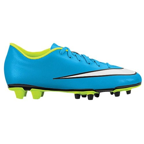 Nike Women's Mercurial Vortex II FG Soccer Cleat Blue Lagoon/Volt/Black/White Size 8.5 M US by Nike