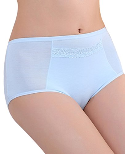 Qikafan - Shorts - para mujer azul claro