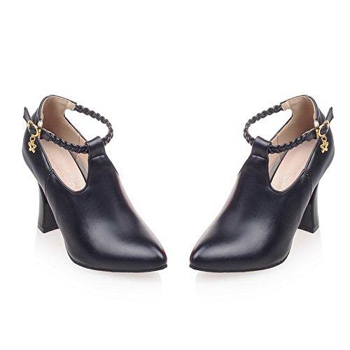 Balamasa Da Donna Cinturino Alla Caviglia Con Borchie In Strass Metallo Fibbie Materiali Mix Pumps-shoes Nere