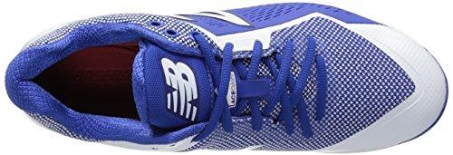 New Balance Herren L4040v4 Metall Baseball-Schuh Royal / Weiß
