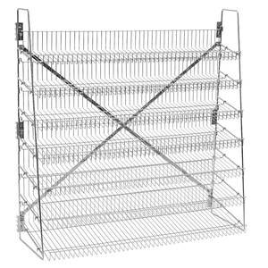 Wire Candy Snack Rack, 7 Tier, 48'' Wide, Chrome, Free Stand or Mount by Retail Resource