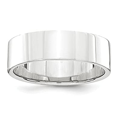 Platinum 6mm Flat Wedding Wedding Band